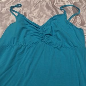 Supersoft bamboo tank dress w adjustable straps